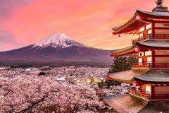 富士山 日本最高的山 日本三大灵山之一(日本精神的象征)