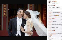 林志玲甜靠AKIRA亲解结婚密码 婚礼后微博首发声