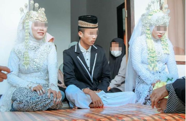 离奇!印尼男子同时娶了他的未婚妻和他的前女友