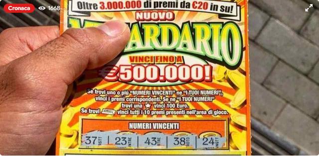 """意大利一顾客买""""刮刮乐""""中大奖50万欧元,店主拿了就跑"""
